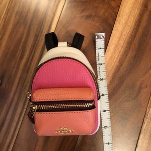 Coach Mini Backpack Keychain Coin Purse Pouch NWT